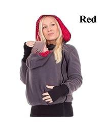 Suéter De Maternidad Portador Que Lleva Embarazada Sudadera con Capucha Abrigo De La Chaqueta Sudadera con