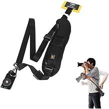 Jiam Universal Negro rápida y rápido hombro Correa de cuello Cinturón Sling para Canon Nikon Sony SLR / DSLR Cámara