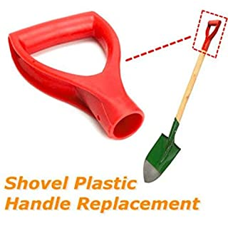 Uteruik Plastic Red Scoop Poly D Grip Handle Replacement Lawn Farm Snow Removal Spade Fork Shovel