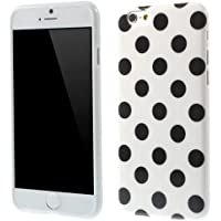 TPU-Case / Hülle zu Apple iPhone 6 - Dots weiß schwarz gepunktet schwarze Punkte 60-er Jahre