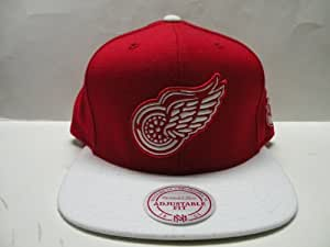 Mitchell & Ness NHL Detroit Red Wings Logo 2 Tone Retro Snapback Cap