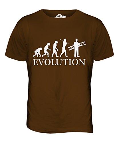 CandyMix Maler Und Lackierer Dekorateur Evolution Des Menschen Herren T Shirt Braun