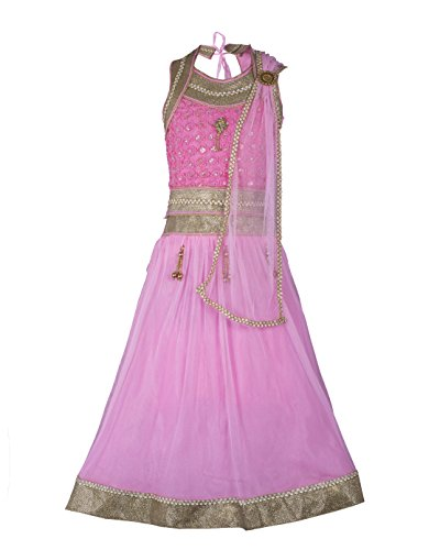 My Lil Princess Baby Girls Birthday Party wear Frock Dress_Pink Silver Lehenga...