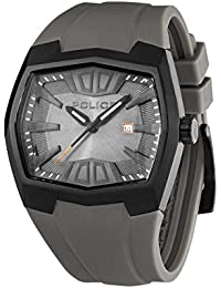 Police PL.13834JSB-13 - Reloj analógico de cuarzo para hombre, correa de silicona color gris