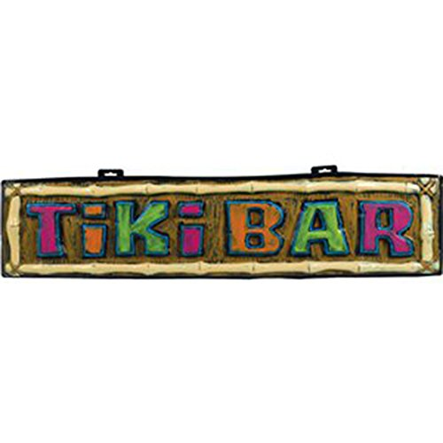 Party Palast - Party Dekoration Hawaii Sommerparty Party Tiki Bar Schild 100cm, Mehrfarbig