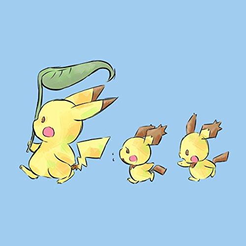 My Neightbor Pikachu Pokemon Totoro Men's T-Shirt Sky Blue