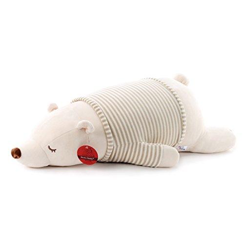 (Niuniu Daddy Eisbär Teddy Bär Kuscheltier Polar Bear, liegend 76cm(30inch))