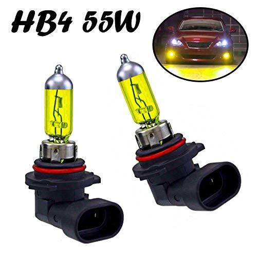 2x HB4 55W 12V Gelb Aqua Vision Yellow Original Jurmann Trade Ersatz Halogen Birne für Scheinwerfer, Fernlicht, Abblendlicht, Nebelleuchte vorne - E-geprüft