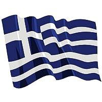 Autoaufkleber Sticker Fahne Griechenland wehend Flagge Aufkleber