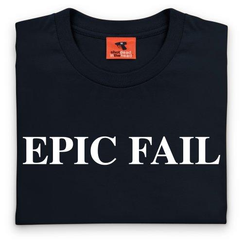 Epic Fail T-Shirt, Herren Schwarz