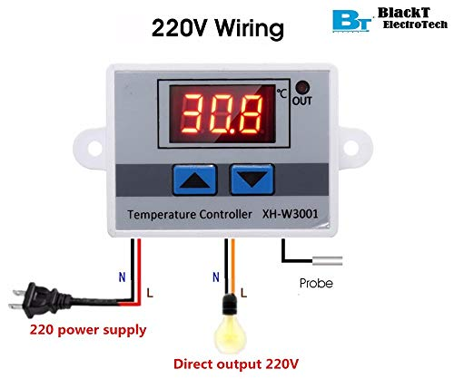 Blackt Electrotech (BT-T1): 230V AC LED Digital Temperature Controller with Thermocouple Sensor