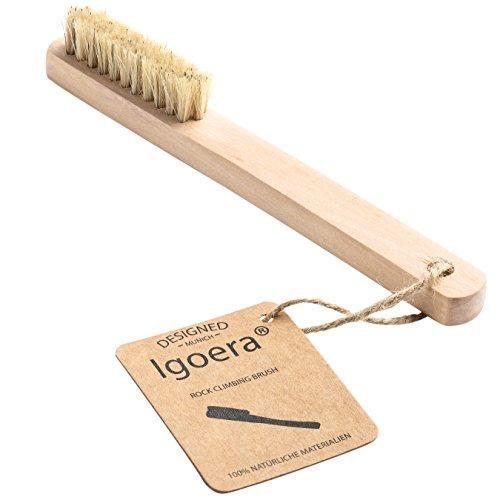 Preisvergleich Produktbild Igoera Premium Climbing-Brush / Bouldering-Brush aus Buchenholz zum Reinigen von Klettergriffen,  Leisten und Fingerlöchern / Klettern-Bürste,  Bouldern-Bürste