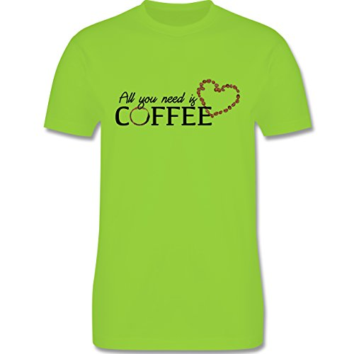 Statement Shirts - All you need is coffee - Herren Premium T-Shirt Hellgrün