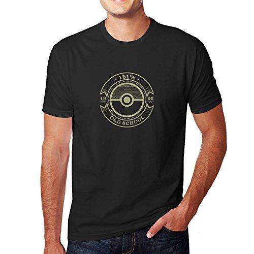 Planet Nerd - Old School - Herren T-Shirt Schwarz