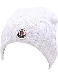 MONCLER 3440Y cuffia bimba girl wool white beanie hat