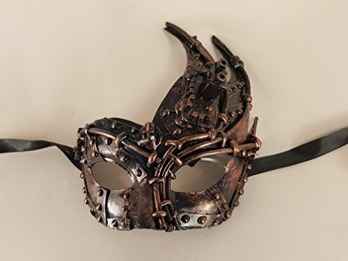 Colombina Punta Metal Venezianische Maske, Karnevalsmaske (bronzo)