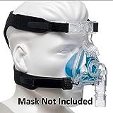 Harnais Universel Pour Les Masques Cpap - Remplace Les Sangles Resmed & Respironics - Connexion À 4 Points Compatible Avec La Plupart Des Masques Nasaux Et Facials (MASQUE & CLIPS NON INCLUS)
