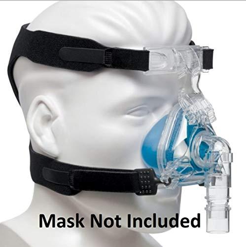 Universal Kopfbedeckung (Headgear) für CPAP-Masken ersetzt Resmed & Respironics - 4 Point Anschluss CPAP Kopfband kompatibel mit den meisten Nasal und Face Schlafapnoe Masken (Maske nicht enthalten)