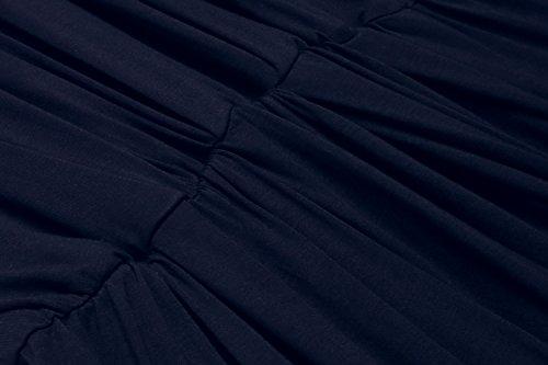 Meaneor Damen Blusenkleid Casual Tunika Sommerkleider Kurzarm Lose Fit Tshirtkleid Freizeitkleid Strandkleid Marine