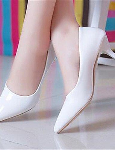 WSS 2016 Chaussures Femme-Habillé / Soirée & Evénement-Noir / Rouge / Blanc-Talon Bas-Talons-Talons-Similicuir white-us7.5 / eu38 / uk5.5 / cn38