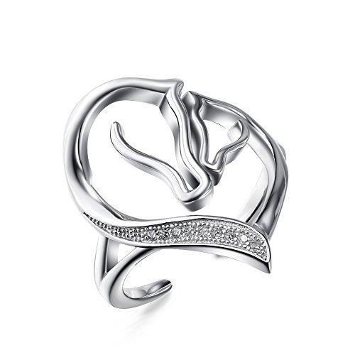 925plata-de-ley-madre-y-nio-cabeza-de-caballo-en-forma-de-corazn-abierto-con-circonitas-cbicas-anill
