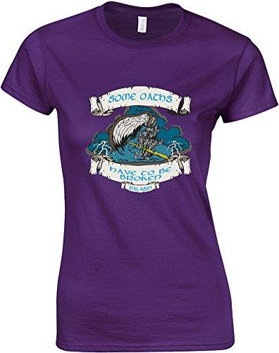 Oath Breaker, Gedruckt Frauen T-Shirt - Lila/Transfer 2XL = 98-102cm (Transfer Breaker)