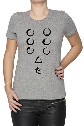 Sieben Samurai Damen T-Shirt Rundhals Grau Kurzarm Größe XXL Women's Grey XX-Large Size XXL