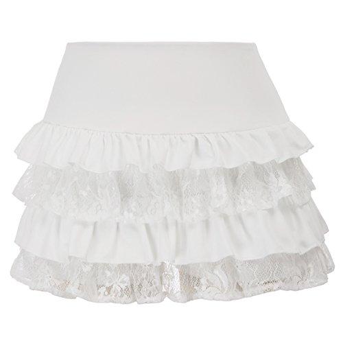 SCARLET DARKNESS Mujer Falda-Cullote Pantalones Vintage Gótico Encaje Floral Tamaño M Marfil