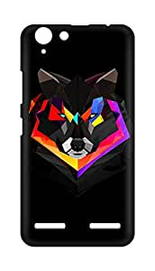 Amez designer printed 3d premium high quality back case cover for Lenovo K5 Plus (Wolf face abstract colorful)