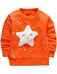 Camisetas para 0-2 Años, Zolimx Bebé Niños Niñas Trajes Ropa Recién Nacido Estrella Impresa Algodón Manga Larga Camiseta Tops…