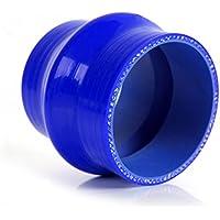 Speedmotor gobba 5,1cm 51mm dritto tubo in silicone Intercooler accoppiatore tubo 3strati, blu