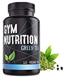 GYM-NUTRITION® - GREEN-TEA Grüntee-Extrakt - Hochdosiert, vegan - Grüner Tee, beliebt in Definitions-Phase & Diät - 2 Monats-Vorrat - 120 Grüntee-Kapseln - Made in Germany
