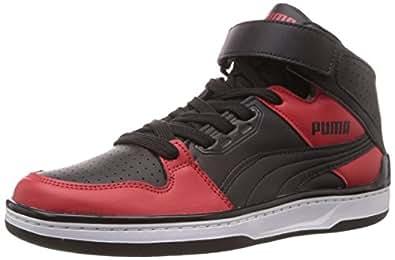 Puma Men's Unlimited Mid DP Black-Ribbon Red Sneakers - 11 UK /India(46EU)