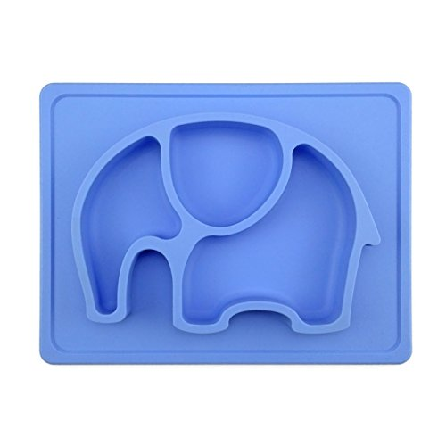 Silivo Kids Placemat & Divide Plate, Silicone No Mess Toddler & Baby...