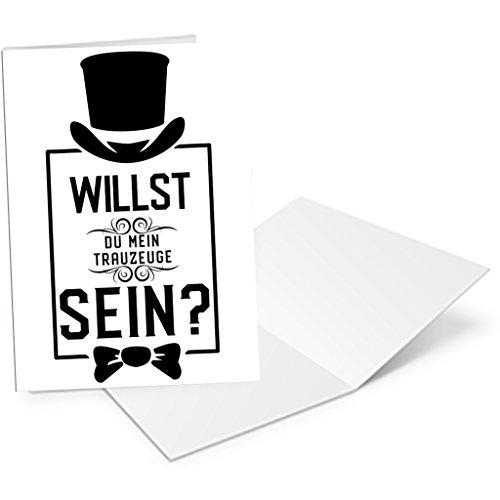 ster Trauzeuge Einladung Willst du Mein Trauzeuge Sein , Karte A6 DIN Geschenk Trauzeugen Hochzeit Einladungen Geschenke ()