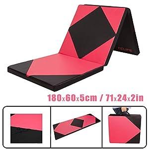 CCLIFE 180x60x5cm Weichbodenmatte Turnmatte Klappbar Gymnastikmatte Farbauswahl
