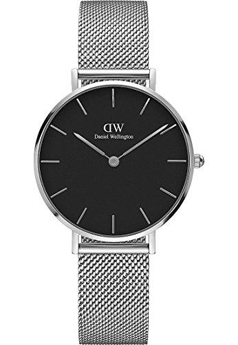 Daniel Wellington Damen-Armbanduhr Analog Quarz One Size, schwarz, silber