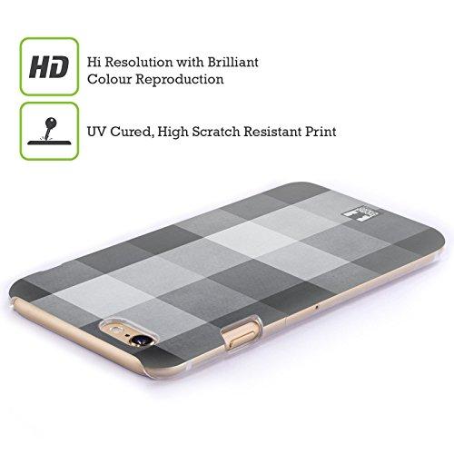 Head Case Designs Rosso Verde Plaid - Pattern Collezione Cover Retro Rigida per Apple iPhone 7 Plus / 8 Plus Nero Grigio