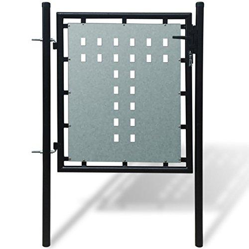 Festnight Gate for single black fence Cancello cancelletto per recinzione singolo nero