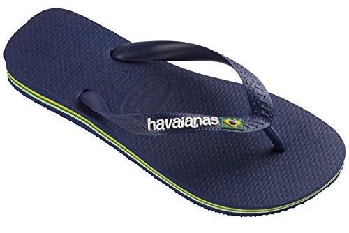 Havaianas Flip Flop/Thong Brazil - Brasil Logo, pour Hommes et Femmes, Unisexe, Bleu Naval. Bleu