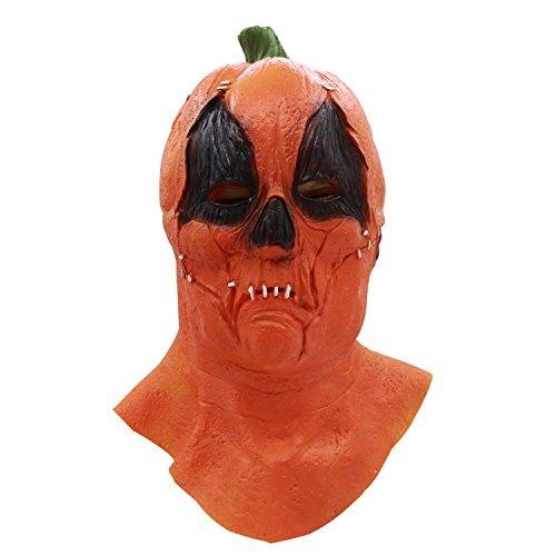 Maschera a testa di zucca, maschera di zucca spaventosa di puntelli di halloween, maschera di zucca in lattice decorazione costumi cosplay