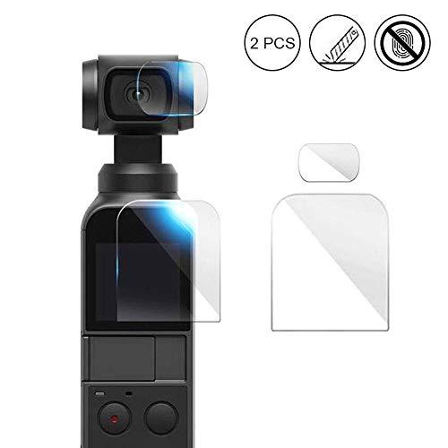 OOOUSE Kameralinse Anti-Kratz-Displayschutzfolie für DJI Osmo Pocket, verbesserte 4H gehärtete Glas-Displayschutzfolie mit HD-Objektiv-Schutzfolie, Zubehör Set 1Set