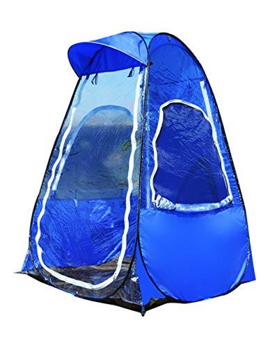 KRUIHAN Tragbare Pop Up Fischen Zelt - Outdoor Wasserdicht Warm Camping Wandern 1 Personen Leichte Umbrella Shed(Blau) -