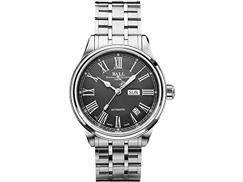 Mens Ball Trainmaster Roman Automatic Watch NM1058D-S4J-GY