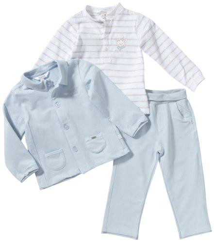Kanz Unisex - Kinder Anzug/ Hosenanzug (Dreiteiler) 1232906, Gr. 80, Blau (3075)