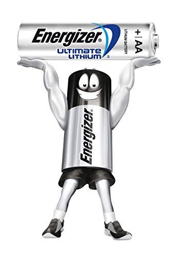 Energizer Ultimate Lithium 7638900262643,Batteria L91Mignon AA 3000mAh LR61,5V Trasparente, Confezione da 4x4