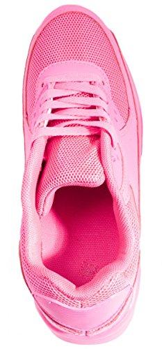 Sport Femmes et Hommes Chaussures rangers Chaussures de course profil semelle Baskets Peach 6