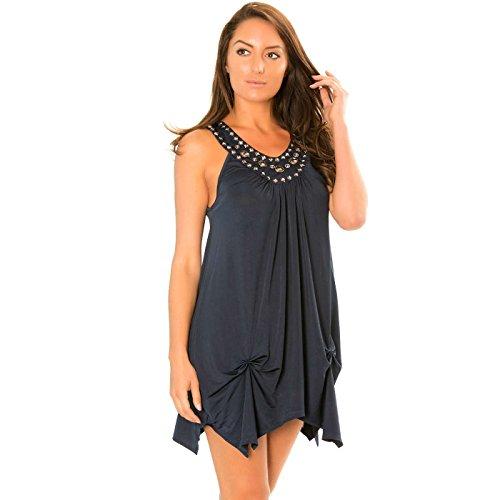 Miss Along Line Damen Kleid Blau blau, Blau, I5/3-14834-226665