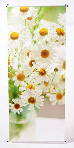 Textilbanner für Schaufenster - Thema: Frühling/Sommer - Margerite/Pflanze - 180cmx75cm - Inklusive Bannerstäbe & Aufhänger - Banner zum Hängen & Dekorieren