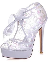 Elegant high shoes3128-34 Scarpe Da Sposa Corte Con Tacco a Spillo In Pizzo  Con 4fd24d76db5